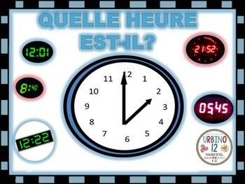 French Task Cards: Telling Time