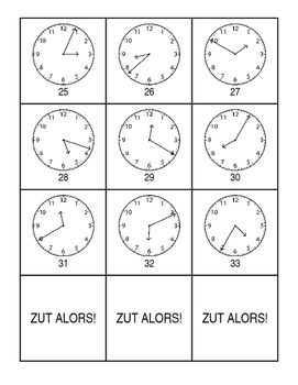 French Telling Time Zut Alors! Game