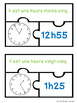 French Telling Time in French to 5 Minute Puzzles Francais Quelle heure est-il?