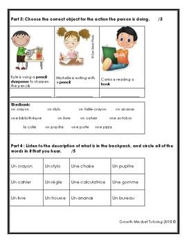 French Test - Les objets de la class