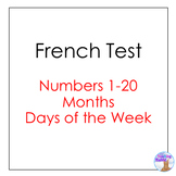 French Test - Numbers, Days, Months