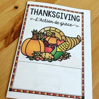 French Thanksgiving L'action de grâce Presentation and Games