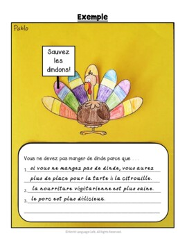 French Thanksgiving Lesson Plans, Writing, Games, Vocabulary, l'Action de grâce