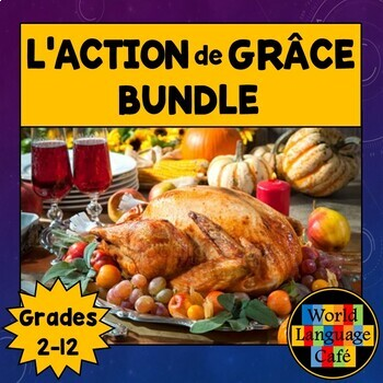 French Thanksgiving Lesson Plans, Writing, Games, Vocabulary