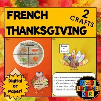 French Thanksgiving Interactive Notebook Craftivities