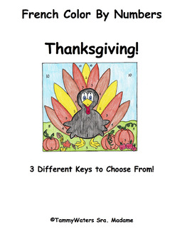 French Thanksgiving Color By Numbers