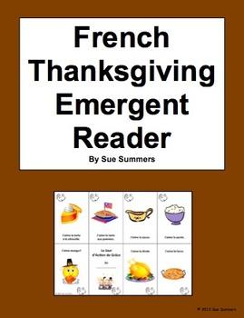 French Thanksgiving Emergent Reader Booklet 3 Designs