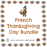 French Thanksgiving Games and Speaking Activities Bundle