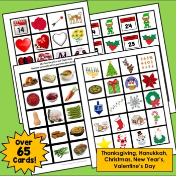 French Thanksgiving, Christmas, New Year's, Valentine's Day Interactive Notebook