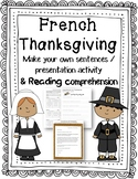 French Thanksgiving Make Your Own Sentences activity and R