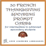 French Thanksgiving Question Cards - 30 French Thanksgivin