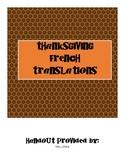 French Thanksgiving Translations