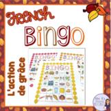 French Thanksgiving bingo L'ACTION DE GRÂCE