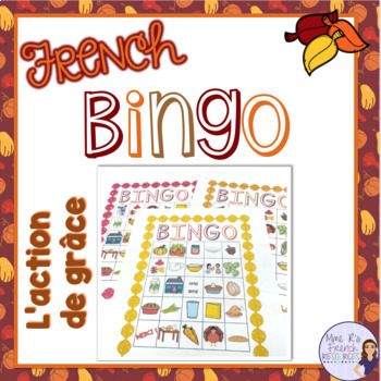 French bingo Thanksgiving L'ACTION DE GRÂCE