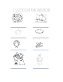 HOLIDAY LESSON: French Thanksgiving coloring page - L'action de grâce coloriage