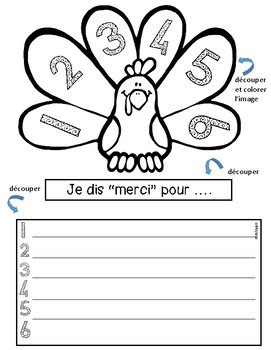 French – Thanksgiving interactive notebook – Action de grâce - cahier interactif