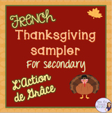 French Thanksgiving writing activities sampler