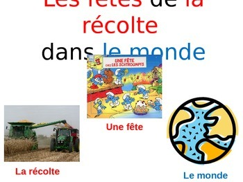 French Thanskgiving Presentation (Le jour de l'action de grâce)
