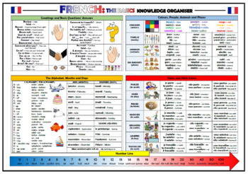 French - The Basics - Knowledge Organiser/ Revision Mat!