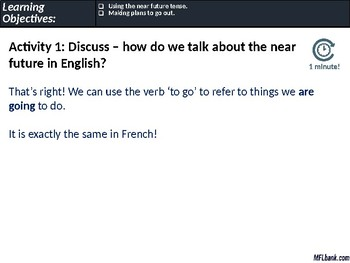 French - The Near Future Tense & Making Social Plans