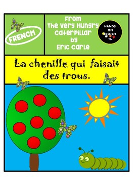 French- The Very Hungry Caterpillar- French substitute and workstation material