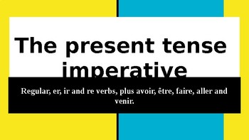 French: The present tense imperative