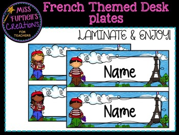 French Themed Desk Name Labels