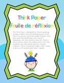 French Think Paper - Feuille de réfléxion pour le comportement