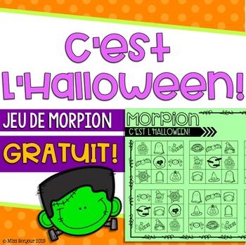 French Tic-Tac-Toe: Joyeux Halloween