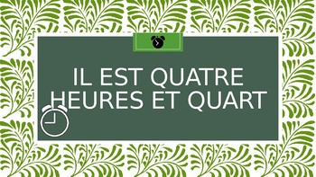 French - Time (First Half of Hour) - Activity (Handheld Clocks / Whiteboards)