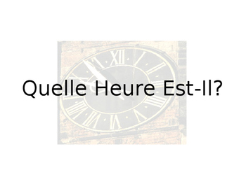 French Time Guided Notes
