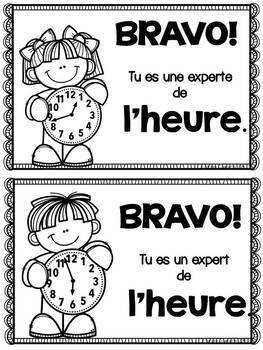 French Time I Have Who Has/Heure - Jeu J'ai Qui a
