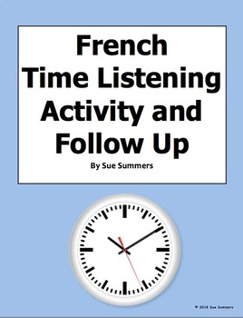 French Time Listening Activity Blank Clocks and Follow Up - Le Temps