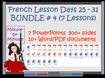 French Time and Weather Lessons  Bundle Days 25 - 31