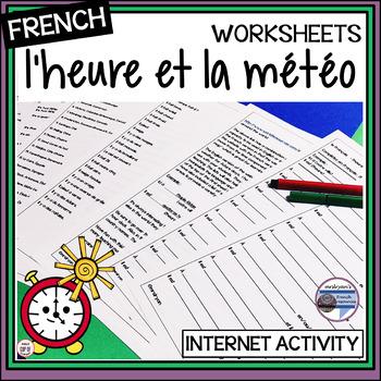 French – Time and Weather (l'heure et la météo) - Internet Activity