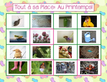 French - Tout à sa Place: Au Printemps