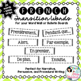 French Transition Words / Sentence Starters to ENHANCE WRITING!