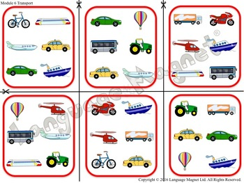 French Transport Bingo