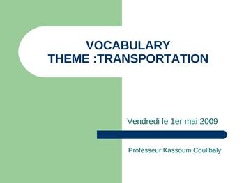French ;Transportation