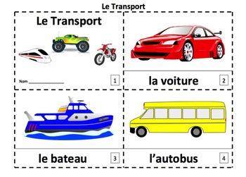 French Transportation 2 Emergent Reader Booklets - Le Transport