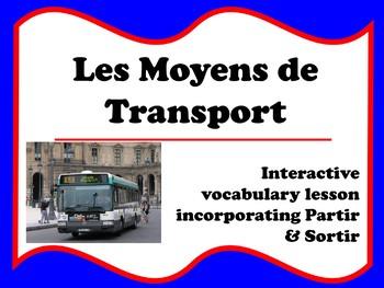 French Transportation Partir and Sortir