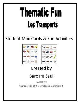 French Transportation-Transports Vocabulary Mini Student C