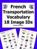 French Transportation Vocabulary 18 IDs - Le Transport
