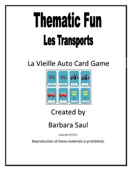 French Transportation Vocabulary La Vieille Auto Card Game