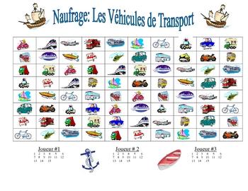 French Transportation Vocabulary Speaking/Writing  Activity (Naufrage)