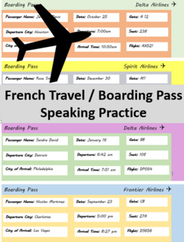 French Travel / Boarding pass Speaking Practice