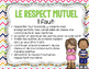 French Tribes Agreements Posters / Les règles de classe