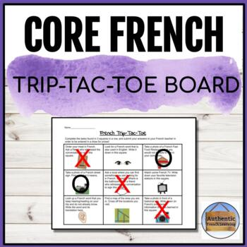 French Trip - Tic Tac Toe Board