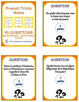 French Trivia Game