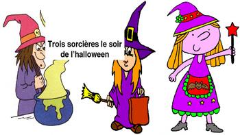"""French: Reading: """"Trois sorcières le soir de l'halloween"""", lecture, PRIMARY"""